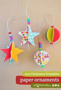 2013 christmas printables star and circle paper decorations picklebums for Picklebums