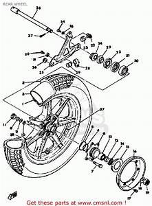 Yamaha Xs1100 1978 Usa Rear Wheel