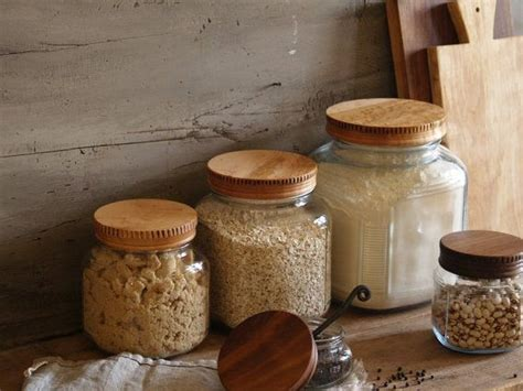 wooden kitchen storage jars wood pantry jar lids covers for glass jars wood lids for 1646