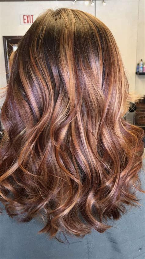 balayage carmel red honey coiffure coiffure blonde