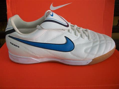 nike tiempo iii ic white blue sepatu bola sepatu