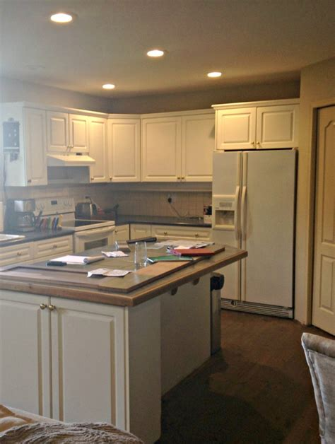 Thermofoil Kitchen Cabinets Peeling by An Open Layout Renovation Antlers And Modern Farmhouse Charm