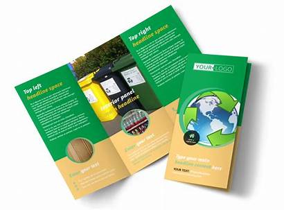 Brochure Recycling Template Fold Tri Templates Brochures
