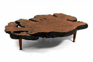 free form solid burl wood coffee table at 1stdibs With free form wood coffee table