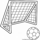Coloring Soccer Ball Sports Pages Goals Activity sketch template