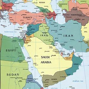 Middle East Capital Cities Map - Map of Middle East ...