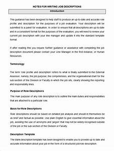 47 hr job description templates hr templates free for Writing job descriptions template