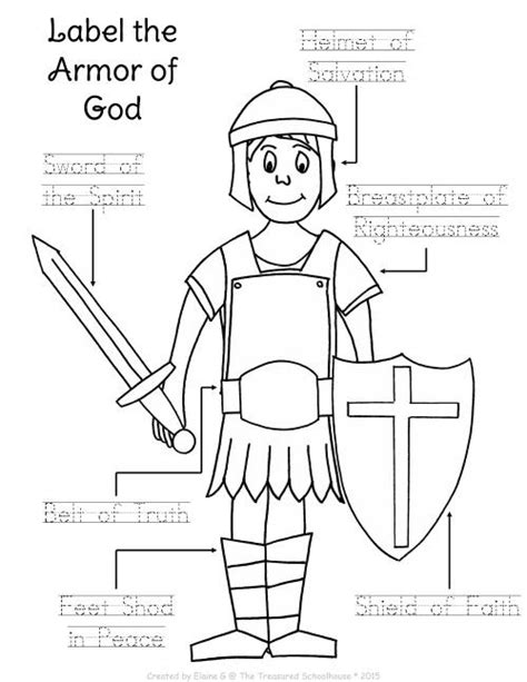 collection of armor of god worksheets bluegreenish