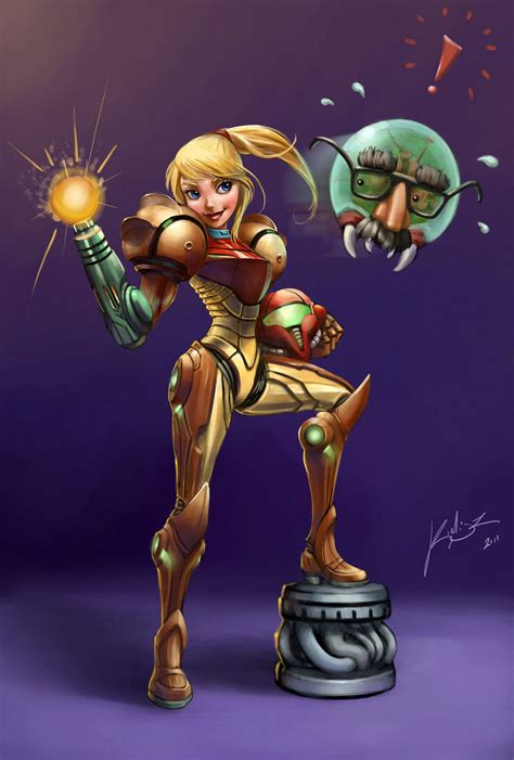 Metroid Samus Aran Cartoon By Kimisz On Deviantart