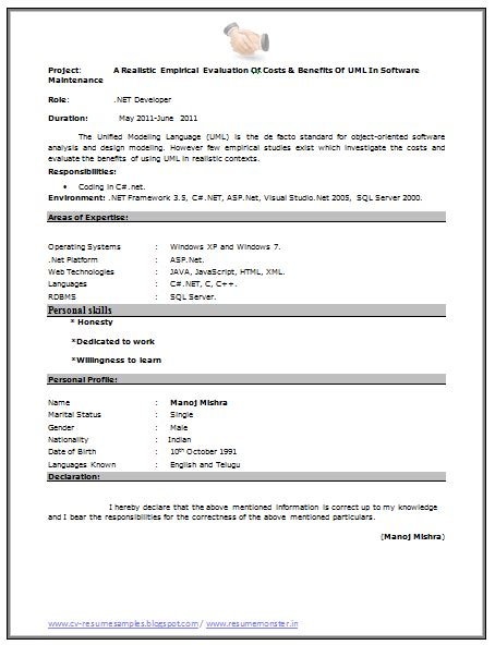 fresher resume sle page 2 career