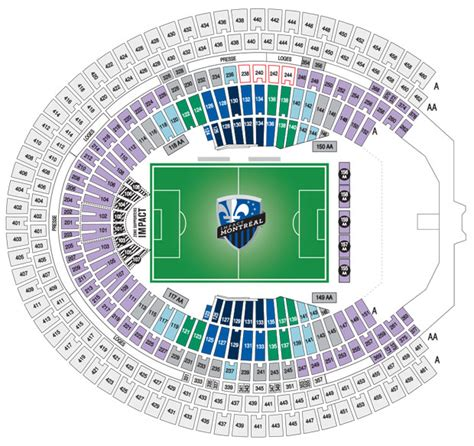 siege stade olympique olympic stadium seating chart impact brokeasshome com