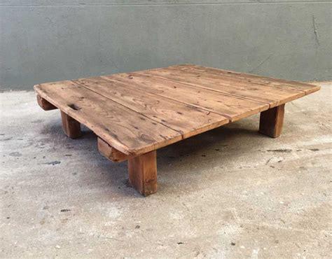 table basse ancienne palette en bois