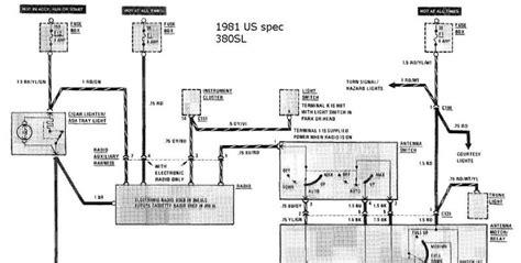 Sl500 Mercede Power Seat Wiring Diagram by Help With Original Radio Wiring 81 380sl Mercedes