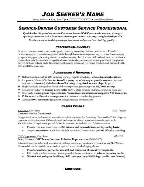 16929 resume exles for customer service position customer service resume exles 2015 thedigimednet