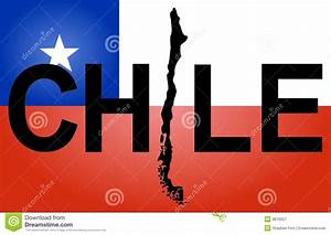 Chile Text With Map Stock Vector  Illustration Of Chilean