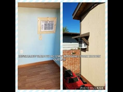 install window ac unit  wall  hidden outlet  awning youtube