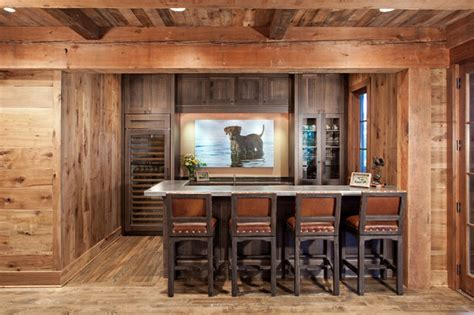 Rustic Home Bar by Northern Wisconsin Cabin Rustic Home Bar Minneapolis