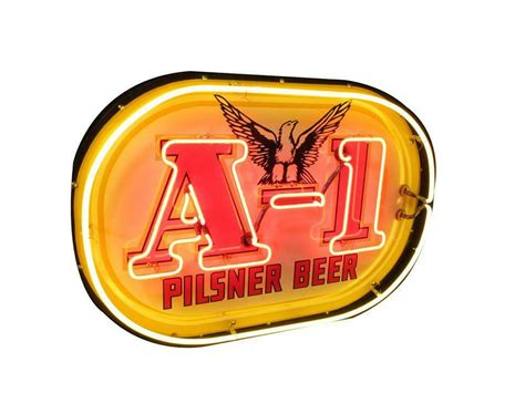 what were beer neon colors in the 50s and 60s clean circa 1950s a 1 pilsner single sided neon por