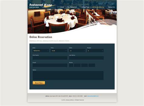 cuisine site restaurant website template free restaurant web