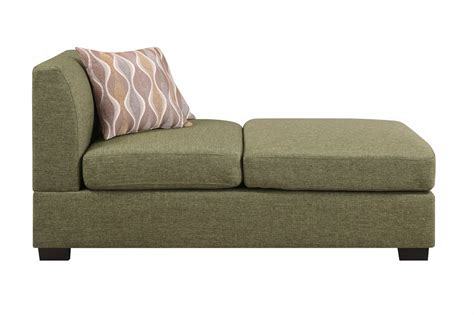 poundex f7976 green fabric chaise lounge a sofa