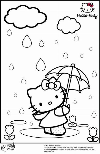 Kitty Hello Coloring Pages Colouring Colors Printable