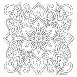 Coloring Adult Pages Simple Easy Mandala Printable Getcolorings Beginners sketch template