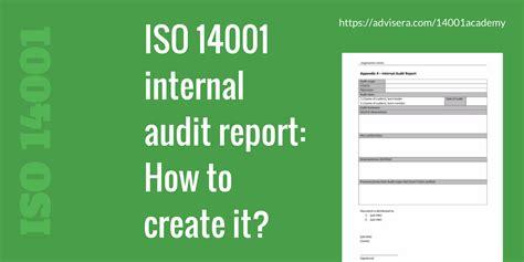 iso  internal audit report   create