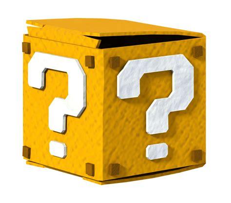 colorful mario question block l image paper mario color splash question block png