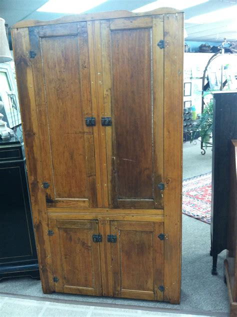 Antique Corner Cupboards For Sale by Gorgeous Antique American Primitive Pine Corner Cabinet