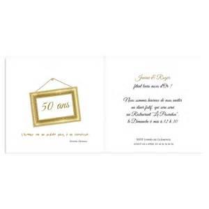 carte anniversaire 50 ans de mariage invitations anniversaire mariage noces d 39 or 50 ans carteland