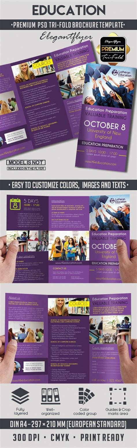 Education Brochure Templates Psd Free by Education Premium Tri Fold Psd Brochure Template By