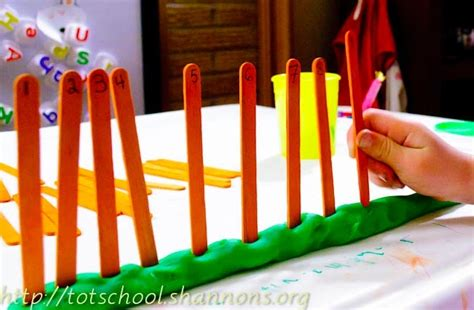 play dough number linedo    table