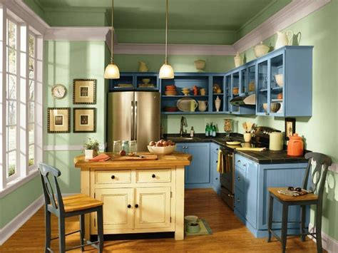 painted blue kitchen cabinets stunning cabinet paint colors house of 3967
