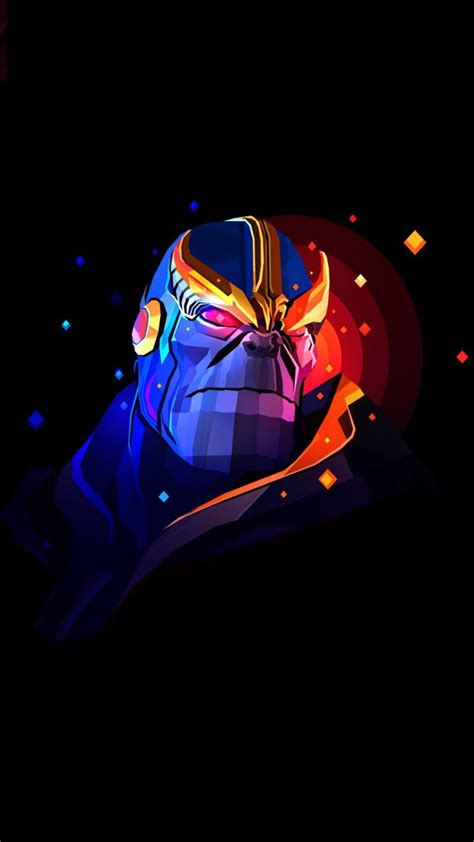 Hd Wallpaper For Mobile Marvel by Thanos Artwork Avenger Marvel Animation Marvel