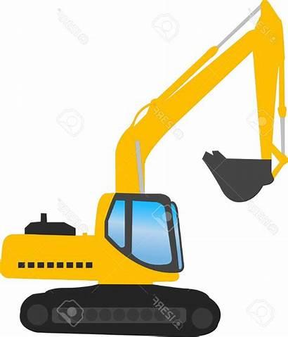 Excavator Digger Clipart Backhoe Construction Vector Svg