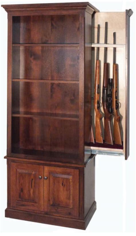 hidden gun cabinet furniture american winchester bookcase with hidden gun safe