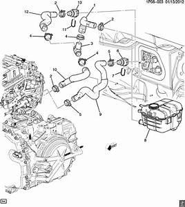 Chevrolet Cruze Hose  Heater  Hose  Htr Inl
