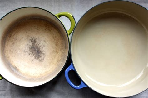 clean discolored enamel cookware alices kitchen