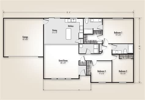 the odell 1736 home plan adair homes