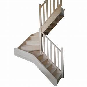 Escalier 1 4 Tournant Droit : escalier double 1 4 tournant en h tre lamell coll ~ Dallasstarsshop.com Idées de Décoration