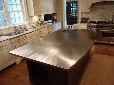 custom stainless steel countertops simple kitchen