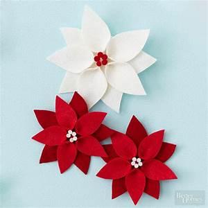 Felt Poinsettia Christmas Ornament