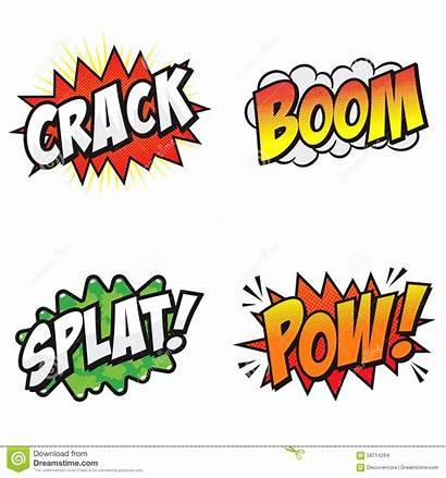 Comic Words Action Font Explosive Vector Cartoon