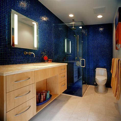 Vivid Blue Tile Bathroom   Contemporary   Bathroom   Tampa