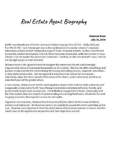 real estate bio templates    premium templates