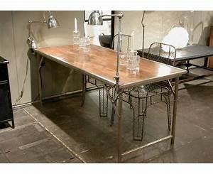 Table Pliante Metal : table pliante playtime bois et m tal de chehoma sur deco ~ Teatrodelosmanantiales.com Idées de Décoration