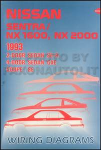 1993 Nissan Sentra And Nx Wiring Diagram Manual Original
