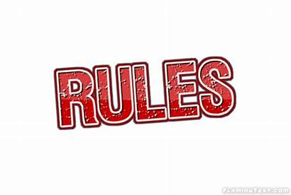 Rules Logos Font Text