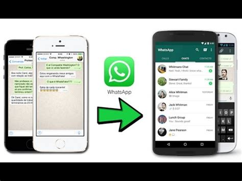how to transfer whatsapp messages from iphone to android youtube