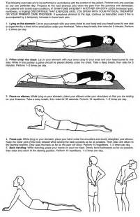 McKenzie Back Exercises